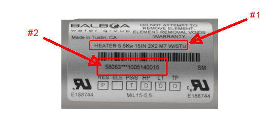 Heater Part Number