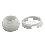 Balboa Bath Micro Jet Internal Eyeball and Ring (White) (10-3710WHT)
