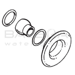 Balboa Bath Builder Escutcheon & Eyeball Assembly (10-3955SN)